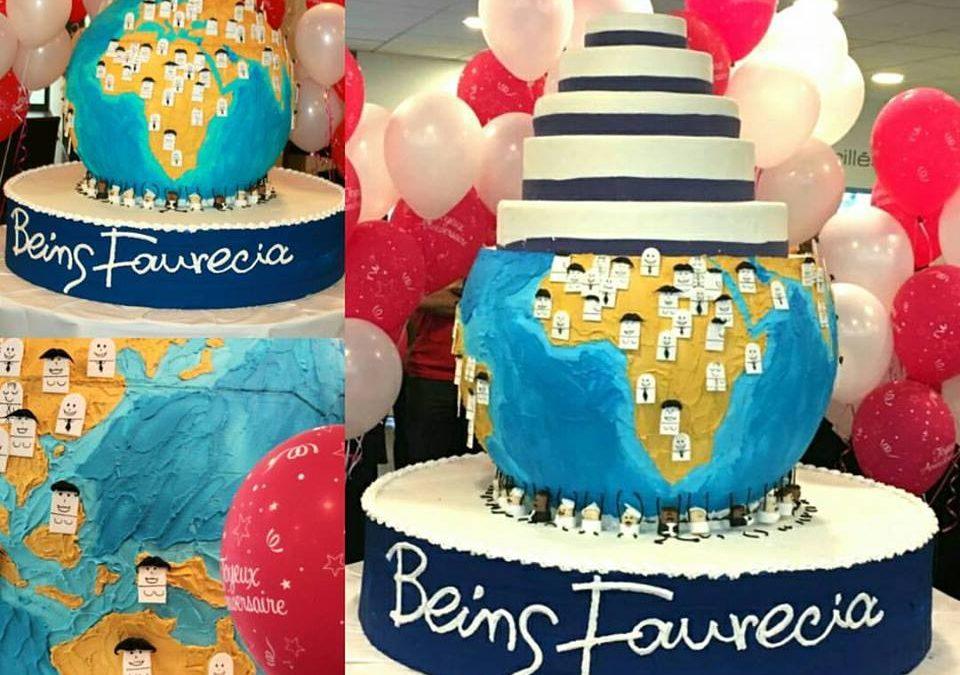 Gâteau d'anniversaire FaureciaFaurecia, Nanterre